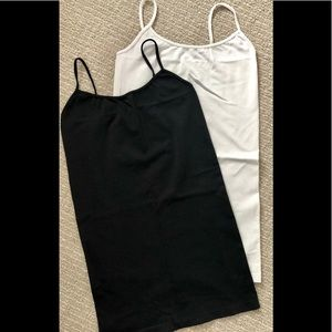 2 Sugarlips camisoles in black and white